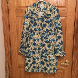 Old Navy size Large floral trench coat